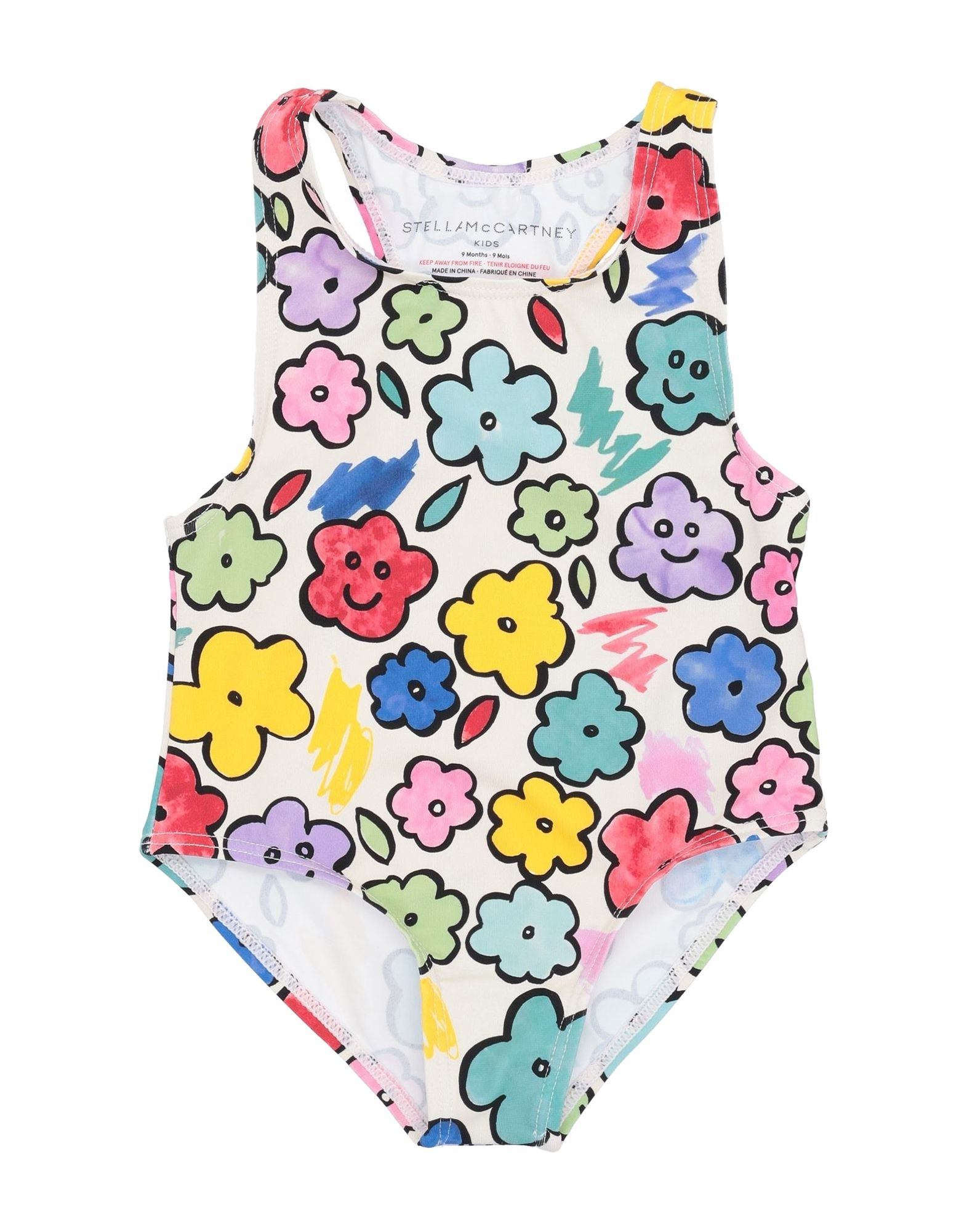 STELLA McCARTNEY KIDS One-piece swimsuits. synthetic jersey, no appliqués, floral design, wash at 30degree c, do not dry clean, do not iron, do not bleach, do not tumble dry, stretch. 78% Polyamide, 22% Elastane, Recycled nylon