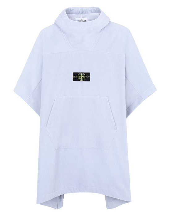 STONE ISLAND 93378 Bathrobe Man Sky Blue.