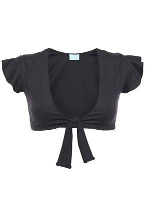 MELISSA ODABASH Kohsa tie-front ruffled bikini top