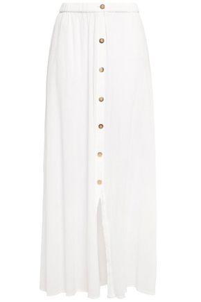 MELISSA ODABASH Crinkled cotton-gauze maxi skirt