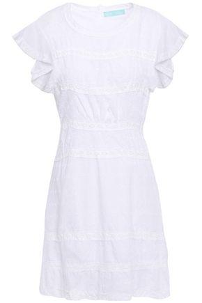 MELISSA ODABASH Meghan crochet-trimmed embroidered mousseline mini dress
