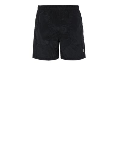 STONE ISLAND B0543 NYLON METAL Swimming trunks Man Black EUR 167