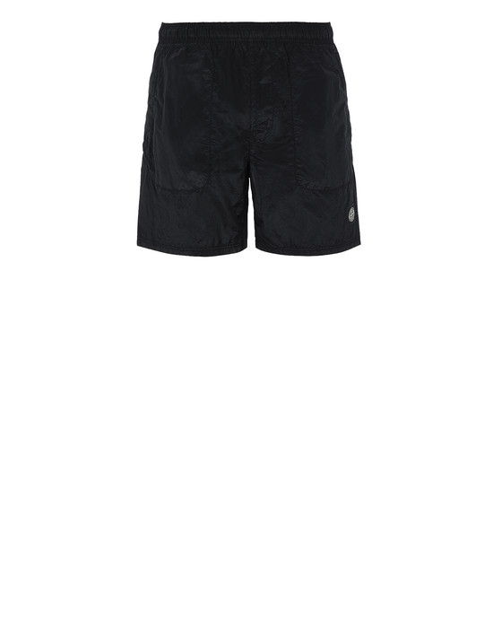STONE ISLAND B0543 NYLON METAL Swimming trunks Man Black