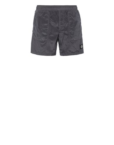 STONE ISLAND B0543 NYLON METAL Swimming trunks Man Blue Grey EUR 158
