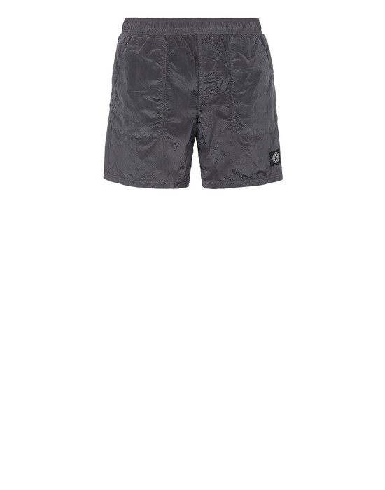 Swimming trunks Man B0543 NYLON METAL Front STONE ISLAND