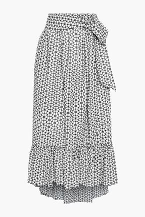 LISA MARIE FERNANDEZ Nicole belted broderie anglaise cotton midi skirt
