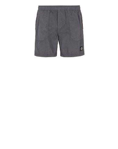 STONE ISLAND B0234 S.I.PA/PL SEERSUCKER-TC  Swimming trunks Man Blue Grey EUR 140