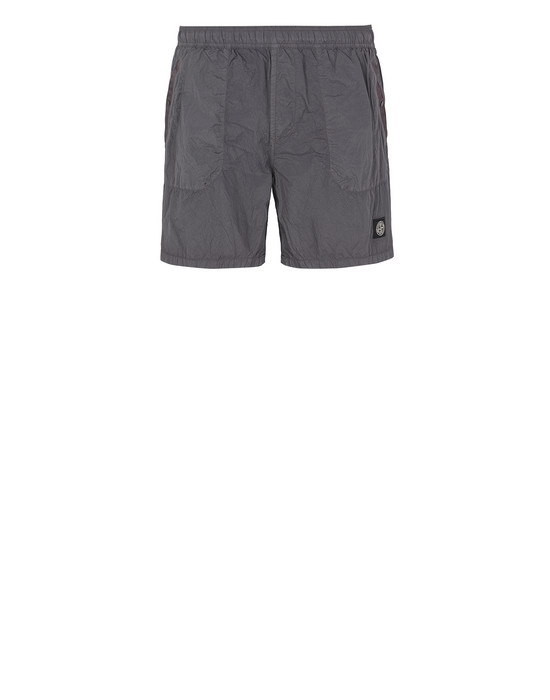 STONE ISLAND B0234 S.I.PA/PL SEERSUCKER-TC  Swimming trunks Man Blue Grey