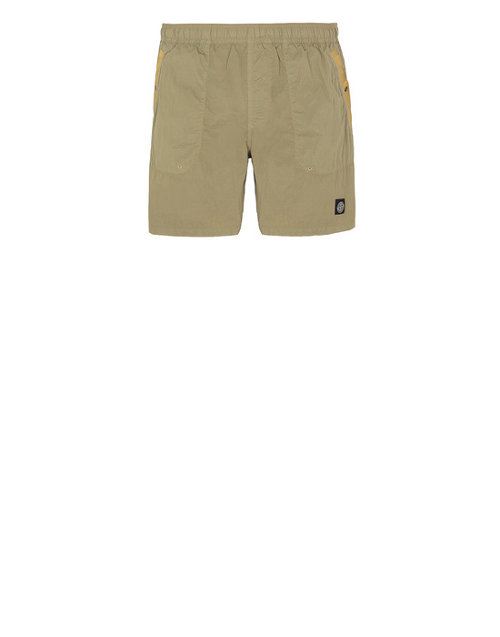 STONE ISLAND B0234 S.I.PA/PL SEERSUCKER-TC  Swimming trunks Man Dark Beige