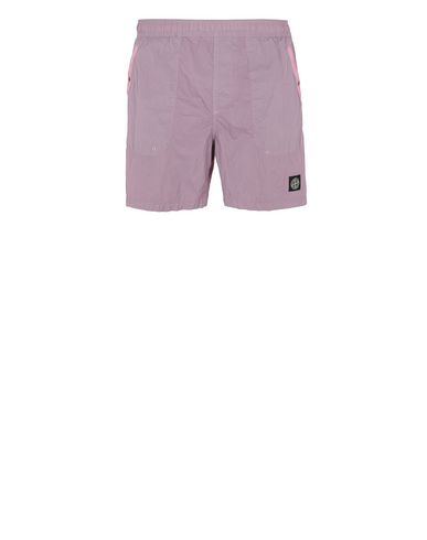STONE ISLAND B0234 S.I.PA/PL SEERSUCKER-TC  Swimming trunks Man Pink Quartz USD 146