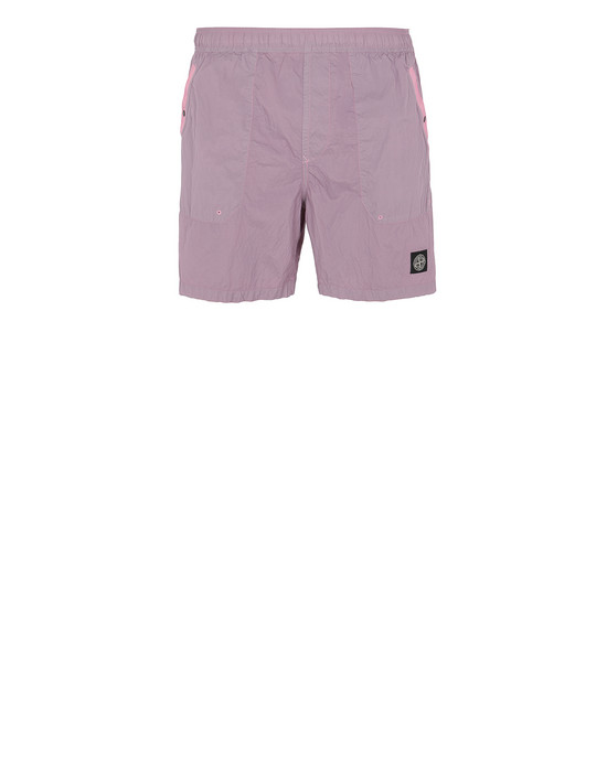 Swimming trunks Man B0234 S.I.PA/PL SEERSUCKER-TC Front STONE ISLAND