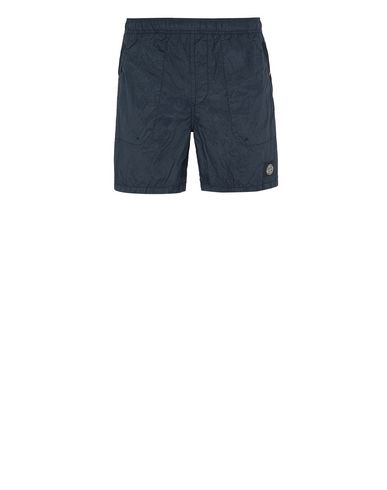 STONE ISLAND B0234 S.I.PA/PL SEERSUCKER-TC  Swimming trunks Man Blue EUR 130