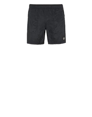 STONE ISLAND B0234 S.I.PA/PL SEERSUCKER-TC  Swimming trunks Man Black EUR 183