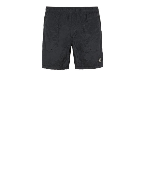 STONE ISLAND B0234 S.I.PA/PL SEERSUCKER-TC  Swimming trunks Man Black