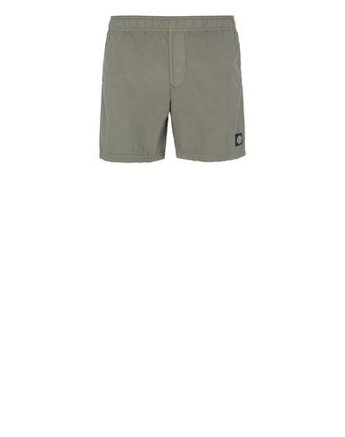 STONE ISLAND B0946 Swimming trunks Man Olive Green EUR 133
