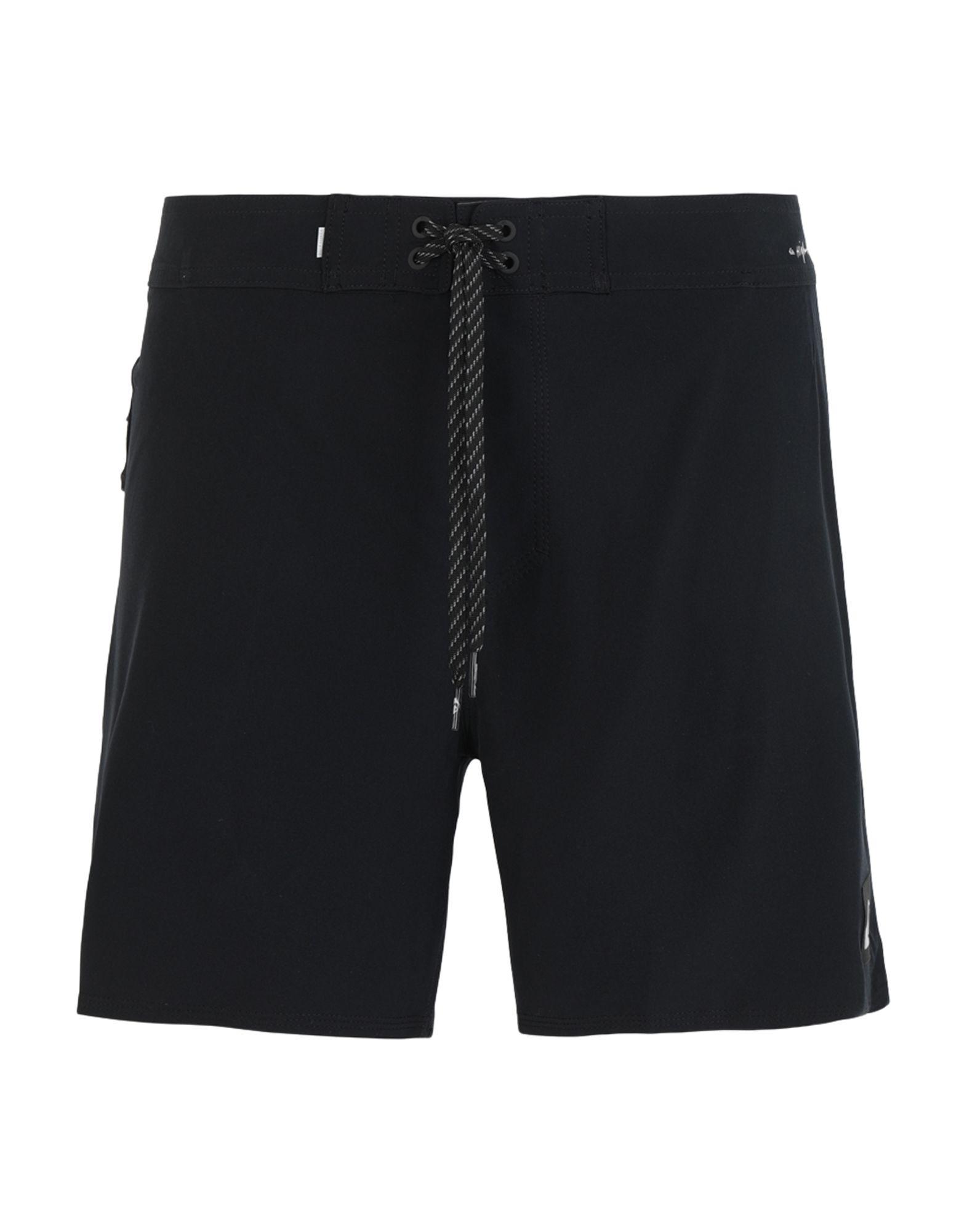 《セール開催中》QUIKSILVER メンズ 水着(ボクサーパンツ) ブラック 36 リサイクルポリエステル 90% / ポリウレタン 10% QS Boardshort Highline Kaimana 16