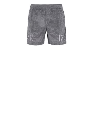 STONE ISLAND B0444 NYLON METAL-FLECK TREATMENT  Swimming trunks Man Blue Grey USD 204
