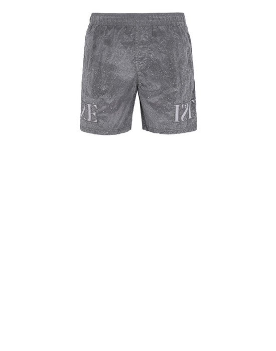 Swimming trunks Man B0444 NYLON METAL-FLECK TREATMENT Front STONE ISLAND