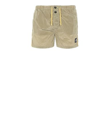 STONE ISLAND B0643 NYLON METAL Swimming trunks Man Dark Beige EUR 133