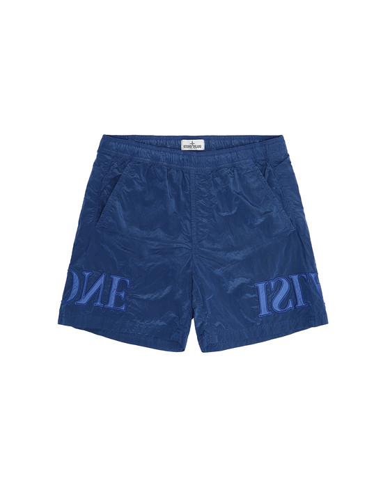 Swimming trunks Man B0313 NYLON METAL Front STONE ISLAND TEEN