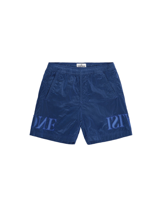 Swimming trunks Man B0313 NYLON METAL Front STONE ISLAND JUNIOR