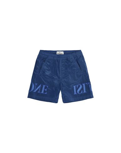 STONE ISLAND KIDS B0313 NYLON METAL Swimming trunks Man Periwinkle EUR 117