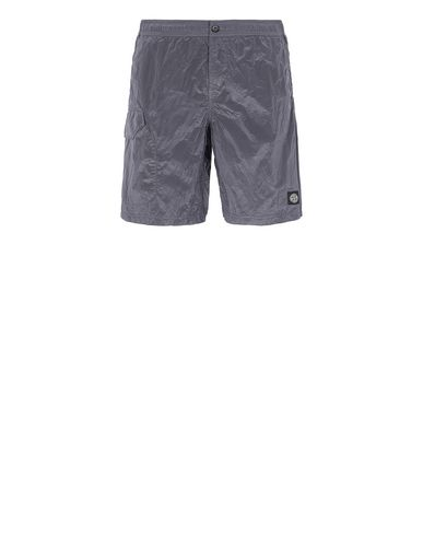 STONE ISLAND B0343 NYLON METAL Swimming trunks Man Blue Grey EUR 115
