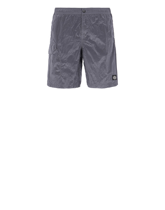 STONE ISLAND B0343 NYLON METAL Swimming trunks Man Blue Grey