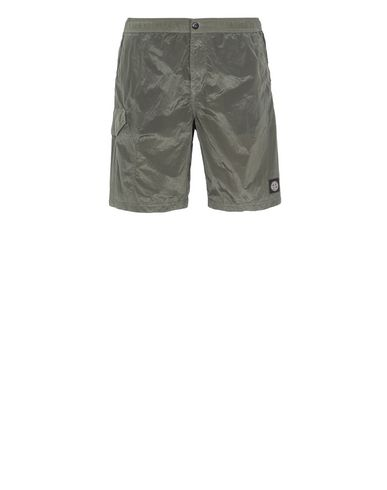 STONE ISLAND B0343 NYLON METAL Swimming trunks Man Olive Green EUR 189
