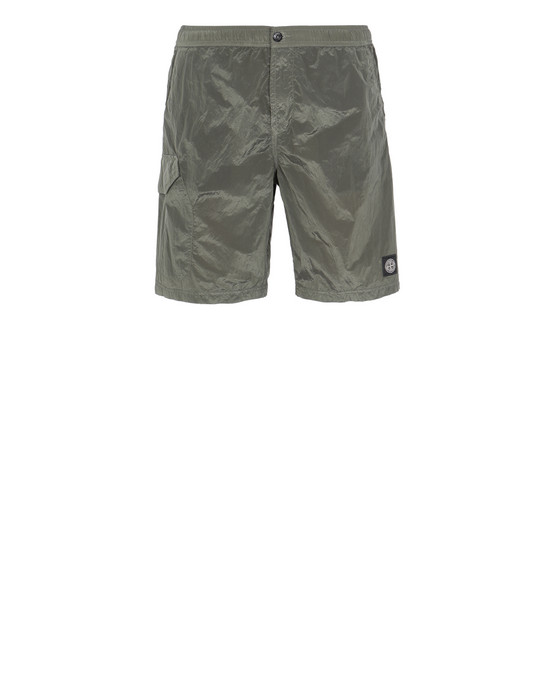 STONE ISLAND B0343 NYLON METAL Swimming trunks Man Olive Green