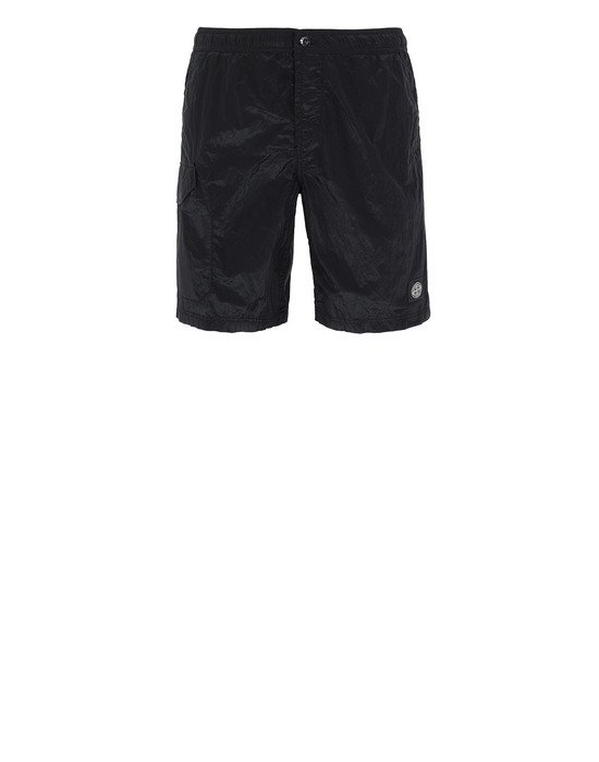 STONE ISLAND B0343 NYLON METAL Swimming trunks Man Black