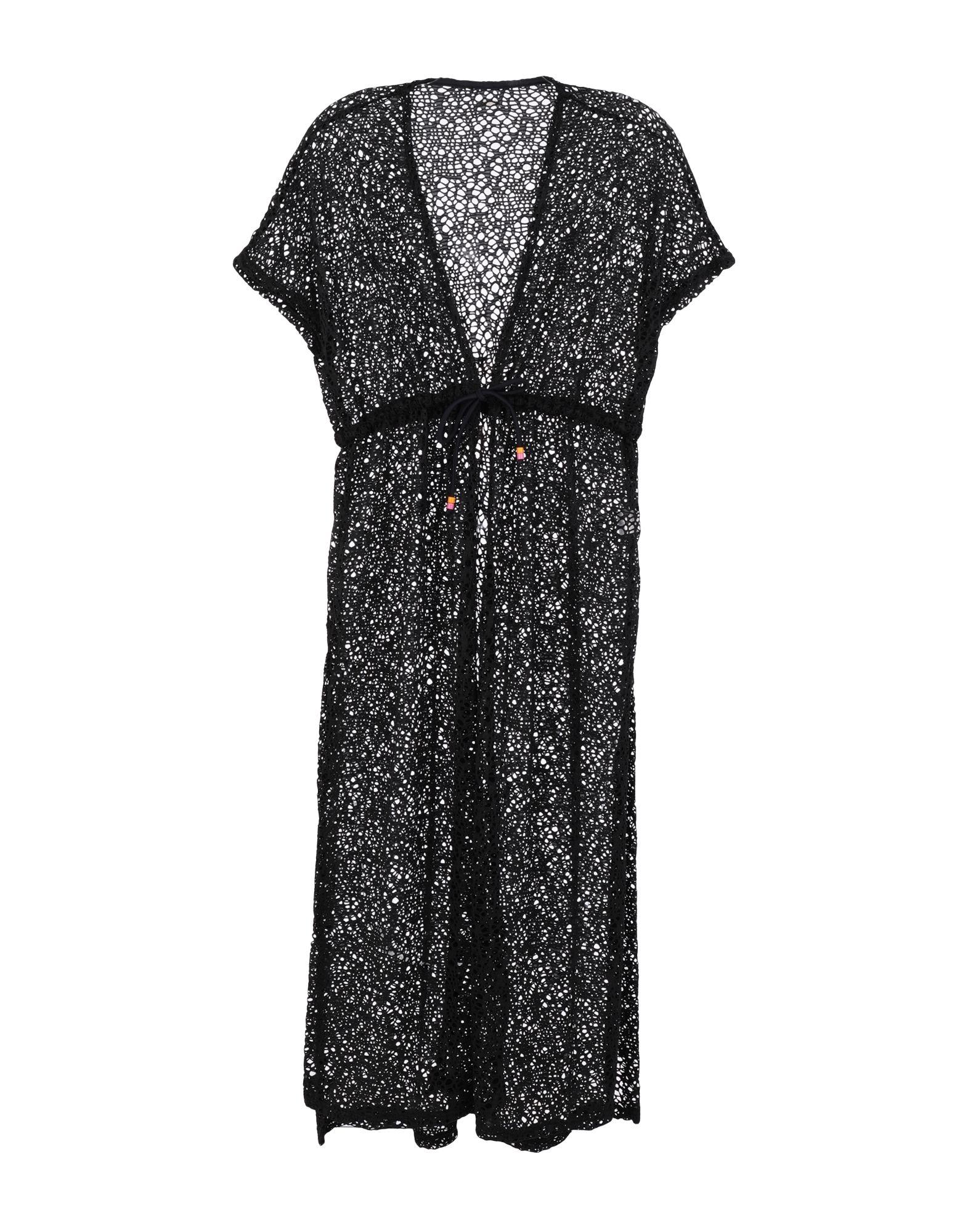 《セール開催中》BANANA MOON レディース ビーチドレス ブラック S ポリエステル 100%
