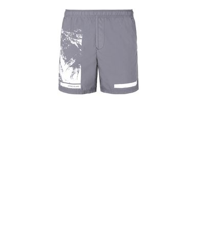 "STONE ISLAND B0993""DRONE SIX"" Swimming trunks Man Blue Grey USD 129"