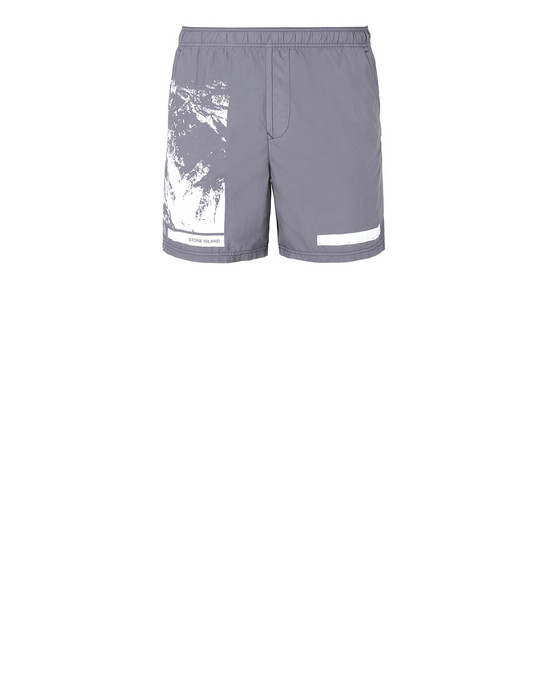 "STONE ISLAND B0993""DRONE SIX"" Swimming trunks Man Blue Grey"