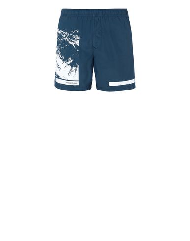"STONE ISLAND B0993""DRONE SIX"" Swimming trunks Man Marine Blue USD 146"