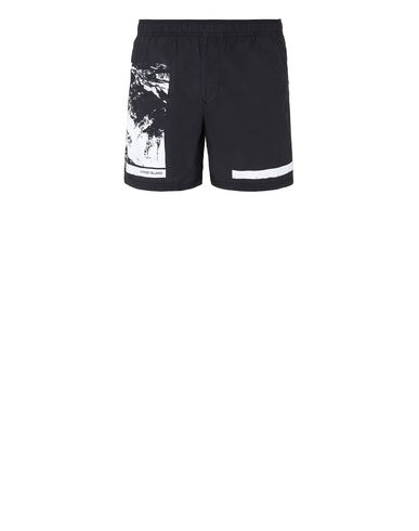 "STONE ISLAND B0993""DRONE SIX"" Swimming trunks Man Black USD 129"