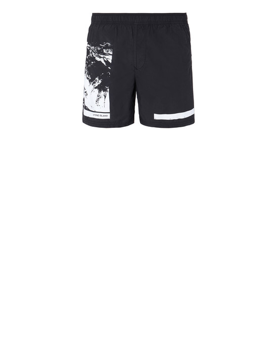 "STONE ISLAND B0993""DRONE SIX"" Swimming trunks Man Black"