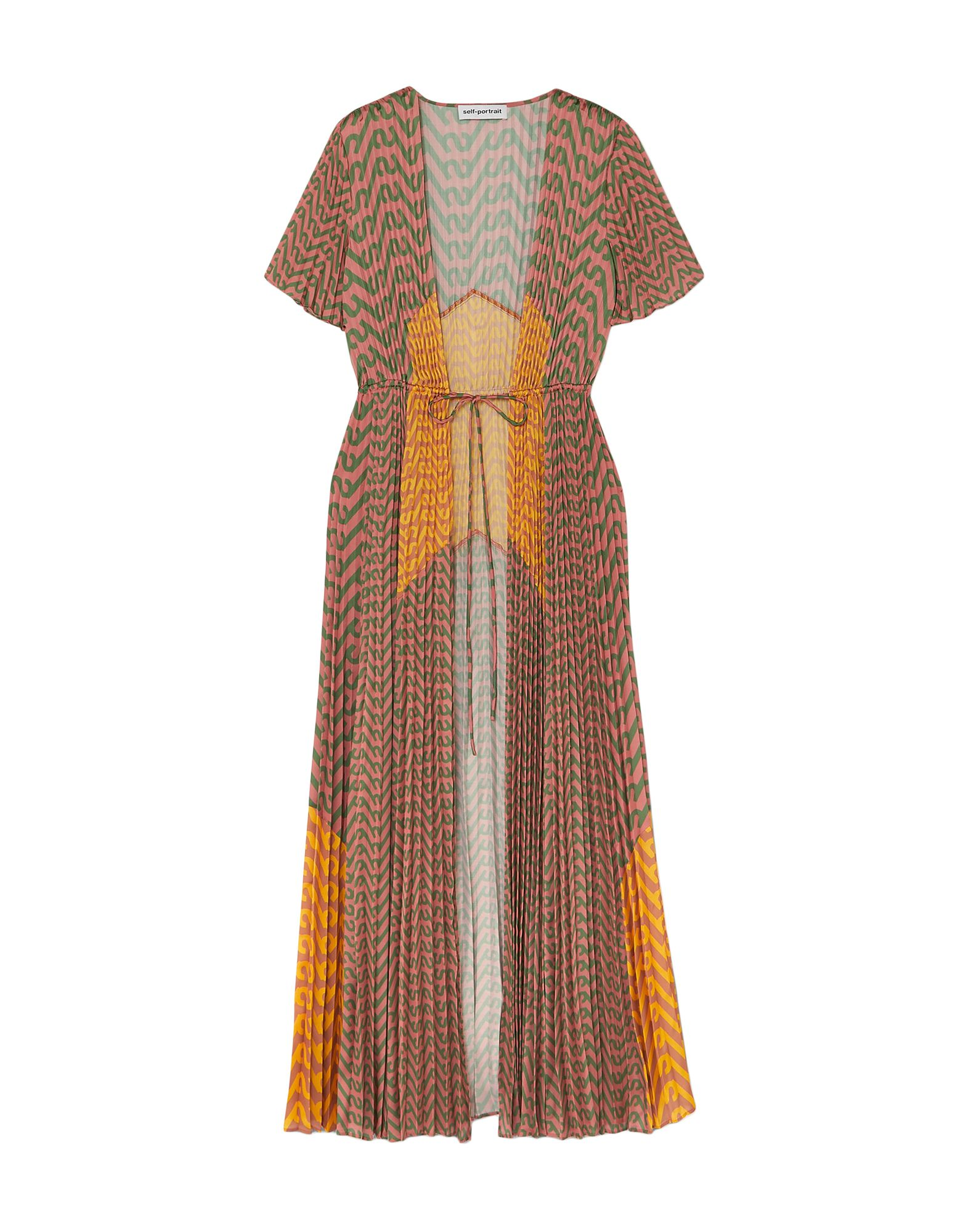 Фото - SELF-PORTRAIT Пляжное платье self portrait платье с вышивкой люрексом