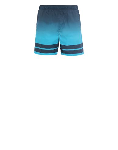 STONE ISLAND B0542 'SHADED PRINT' + STRIPES Swimming trunks Man Avio Blue EUR 142