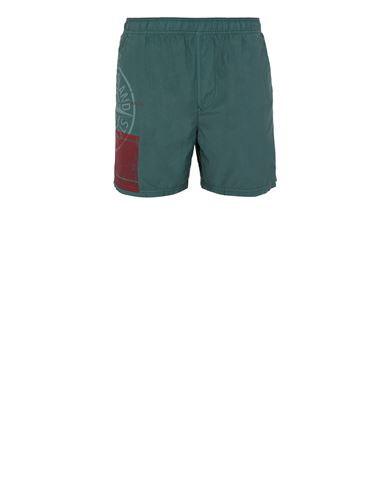 STONE ISLAND B0997 'BLOCK SWIMWEAR'  Swimming trunks Man Dark Teal Green EUR 190