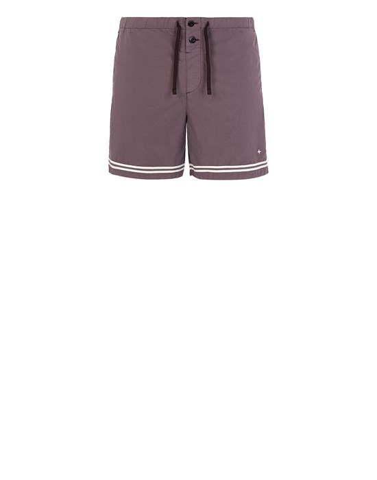 STONE ISLAND B0146 Swimming trunks Man Dark Burgundy