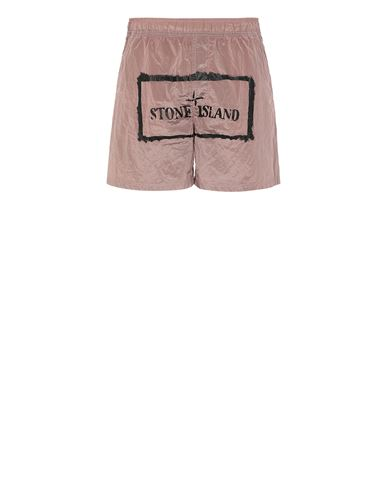 STONE ISLAND B0992 NYLON METAL 'STENCIL' PRINT  Swimming trunks Man Pink Quartz EUR 158
