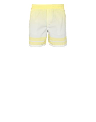 STONE ISLAND B0542 'SHADED PRINT' + STRIPES Swimming trunks Man Lemon EUR 142