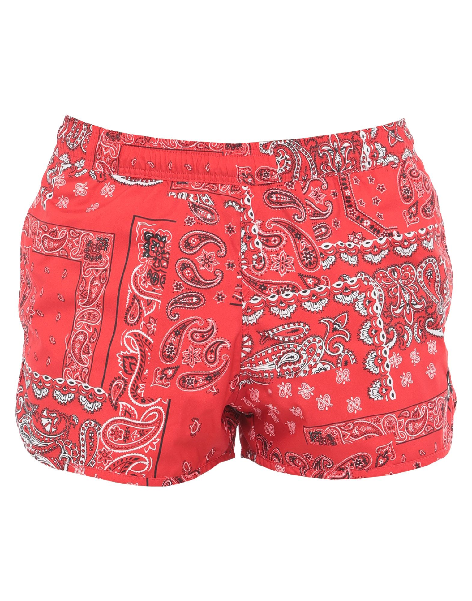 ISABEL MARANT Swim trunks. plain weave, no appliqués, paisley-print, front closure, multipockets, elasticized waist, internal slip. 100% Polyester