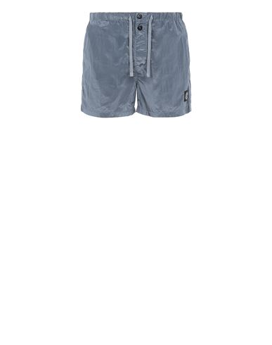 STONE ISLAND B0643 NYLON METAL Swimming trunks Man Pastel Blue EUR 155