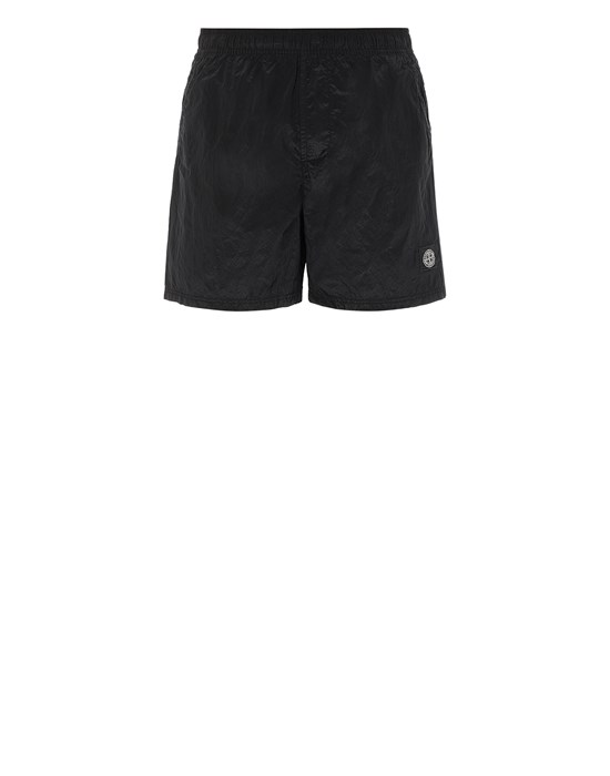 STONE ISLAND B0943 NYLON METAL Swimming trunks Man Black