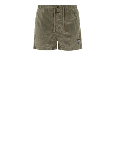 STONE ISLAND B0643 NYLON METAL Swimming trunks Man Olive Green EUR 120