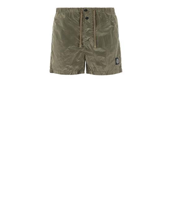 STONE ISLAND B0643 NYLON METAL Swimming trunks Man Olive Green