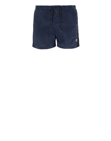 STONE ISLAND B0643 NYLON METAL Swimming trunks Man Avio Blue EUR 120