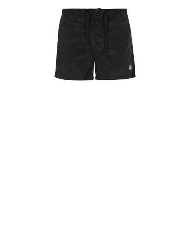 STONE ISLAND B0643 NYLON METAL Swimming trunks Man Black EUR 155